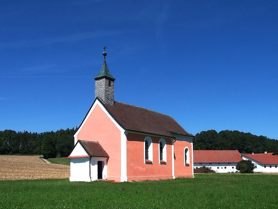 Church, Bavaria, Germany, Landscape, Spring, Summer