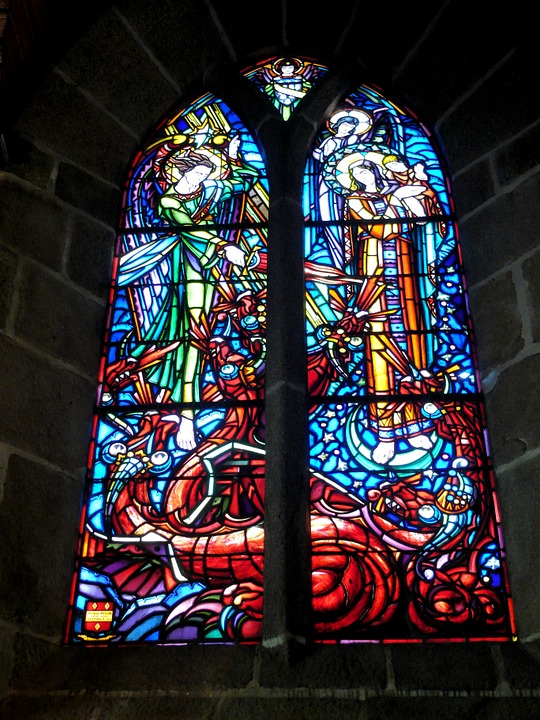 Church, Stained Glass Window, Stained Glass
