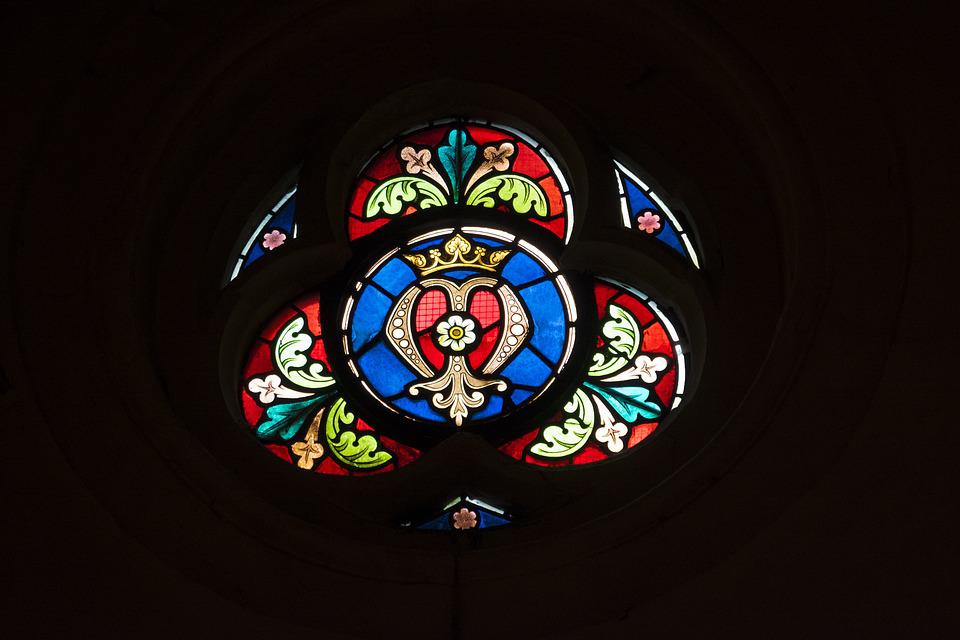 Church, Religion, Stained Glass Windows, Colors