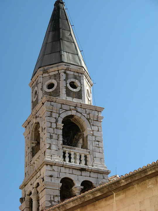 Steeple, Croatia, Building, Church
