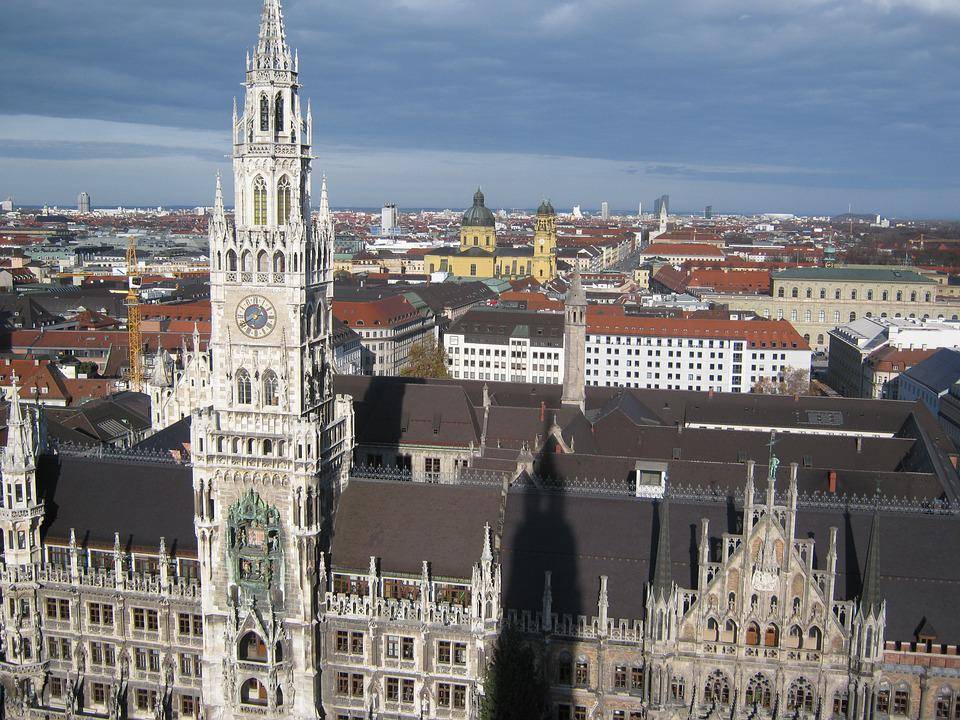 Munich, Church, Bavaria, Steeple, City, Germany