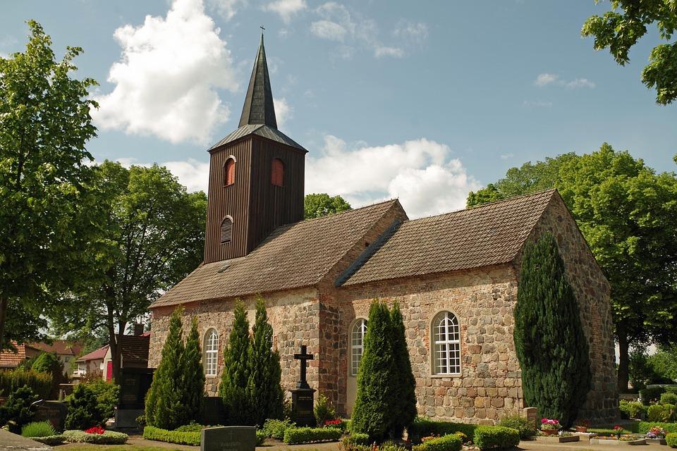 Church, Cemetery, Steeple, Tombstone, Churchyard