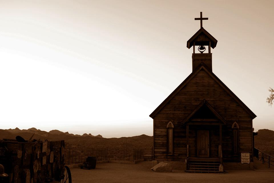 Church, Western, Architecture, Building, Sunlit, Sunny
