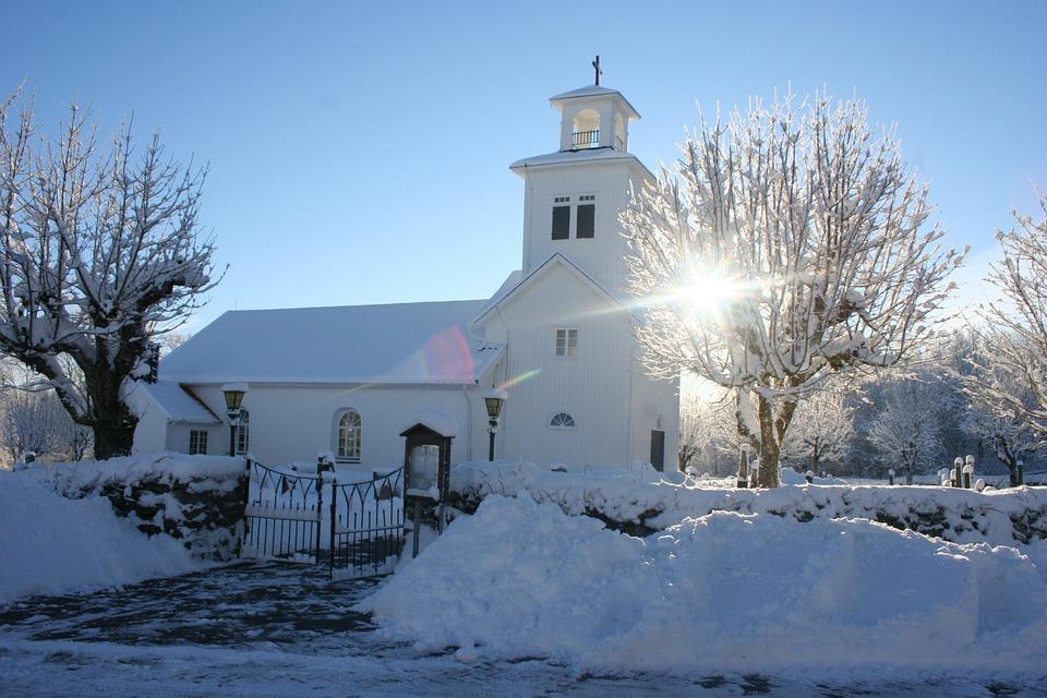 Church, Sunshine, Winter