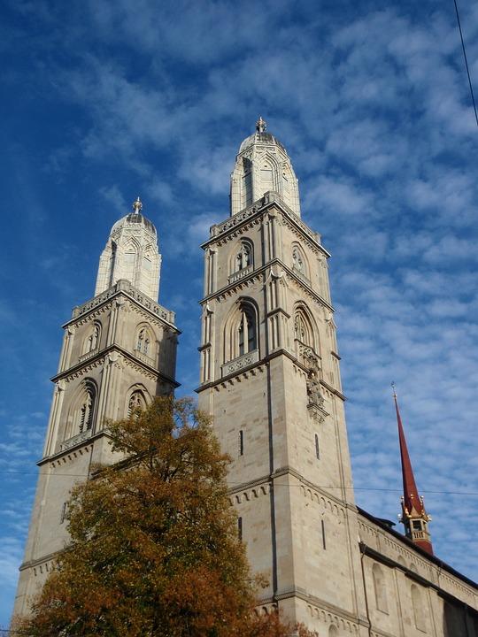 Church, Zurich, City, Switzerland, Travel, Swiss