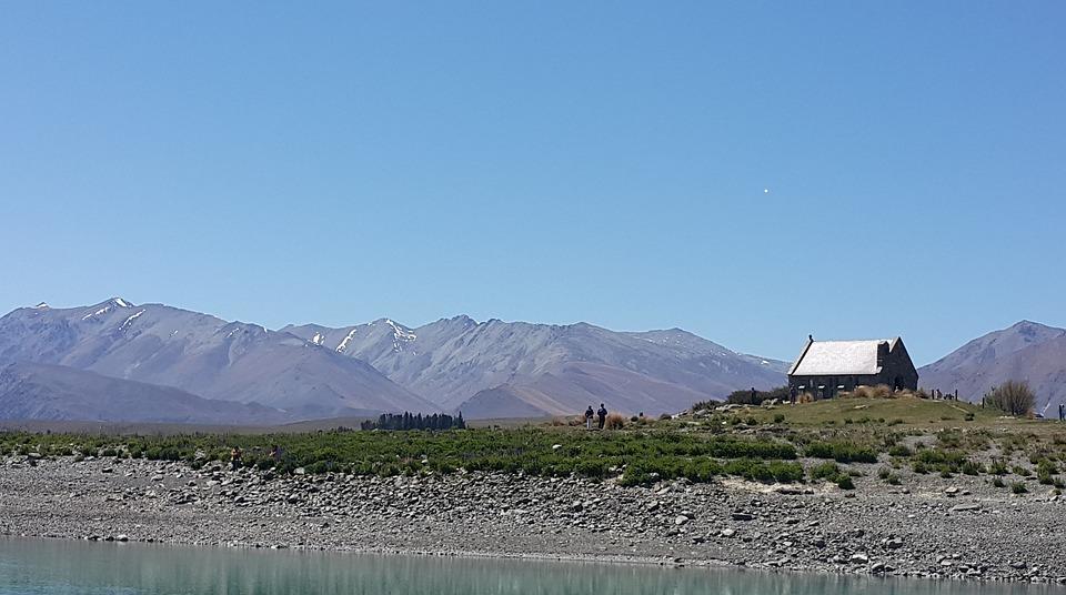 Lake, Tekapo, New Zealand, Church, Good Shepherd