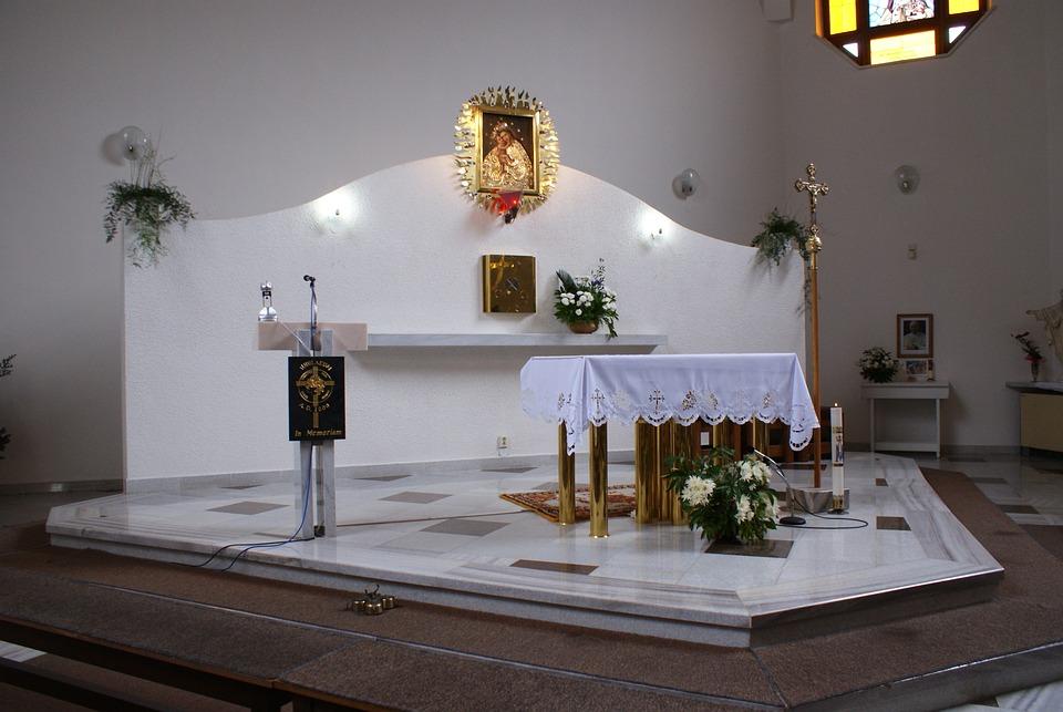 Church, The Altar, Interior Of The Church, Religion