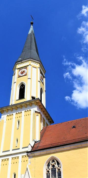 Church, Church Tower, Architecture, Building, Built 15