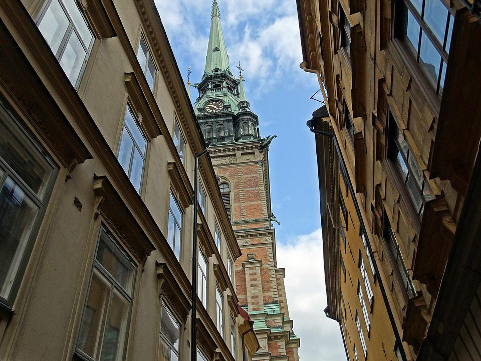 Stockholm, The Old Town, Church Tower, Old House