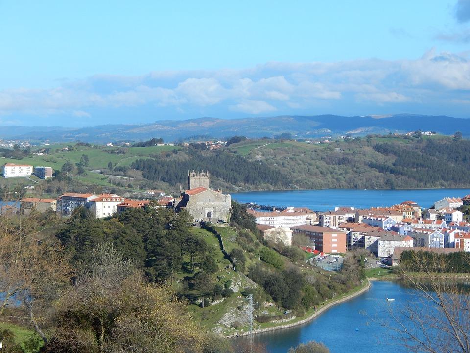 Small Castle, Church, Travel, Sea, Landscape, Spring