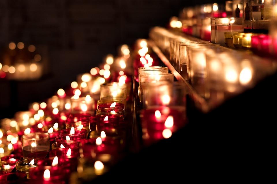 Candles, Candlelight, Church, Flame, Light, Fire, Wax