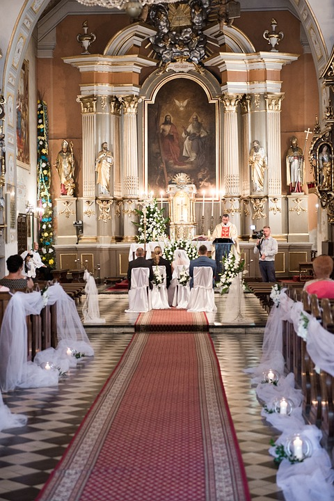 Wedding, Wedding Rings, Oath, Young Couple, Church