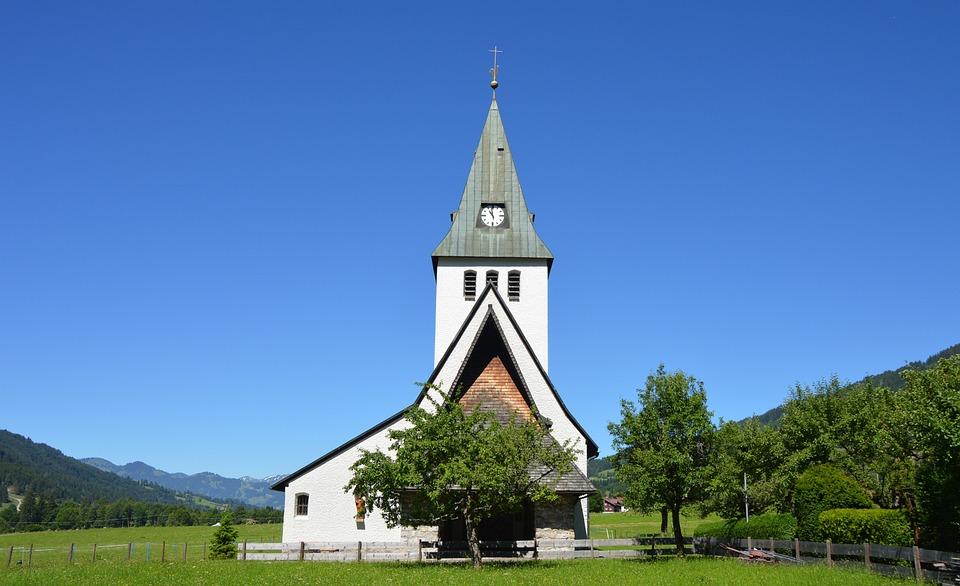 Wedding, Church, Village, Leave, Steeple, Allgäu