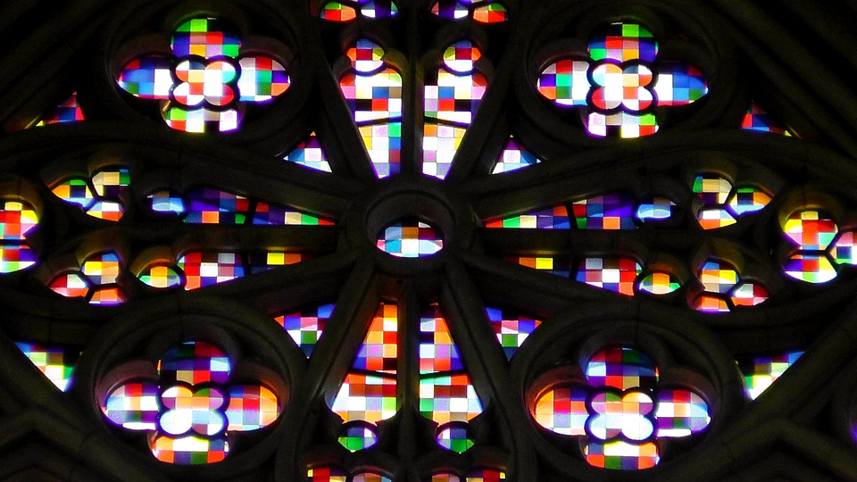 Church Window, Stained Glass, Architecture, Church