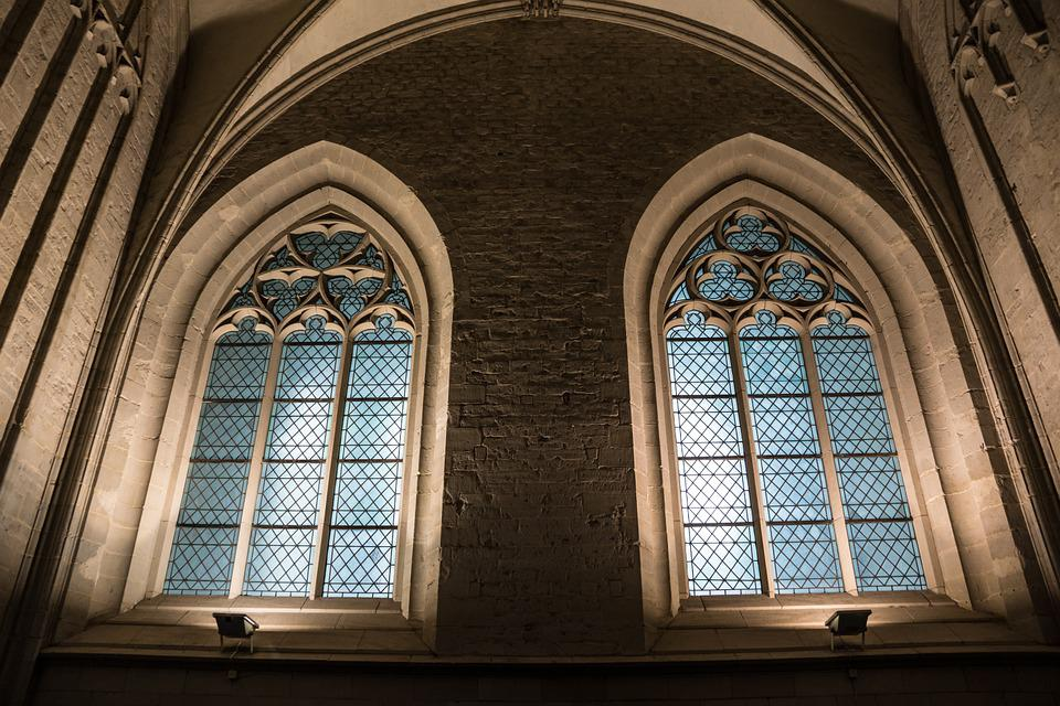 Church Window, Church, Stained Glass Window, Window