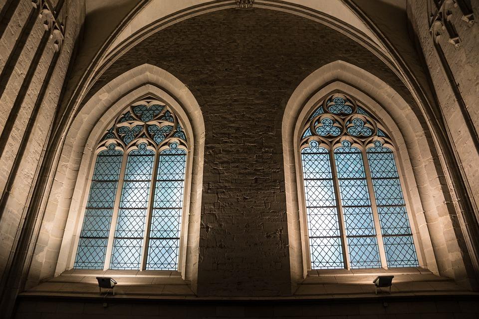 Church Window, Church, Stained Glass Window, Window