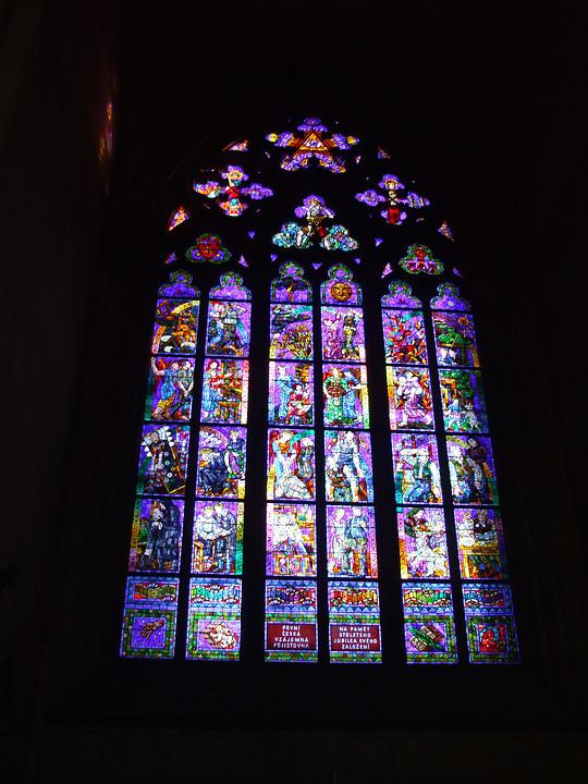 Stained Glass Window, Stained Glass, Church Window