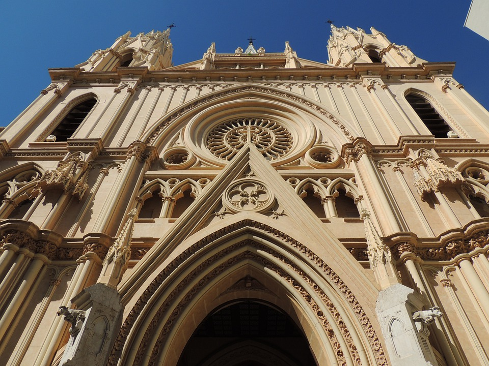 Facade, Gothic, Churches, Architecture, Cathedral, Art