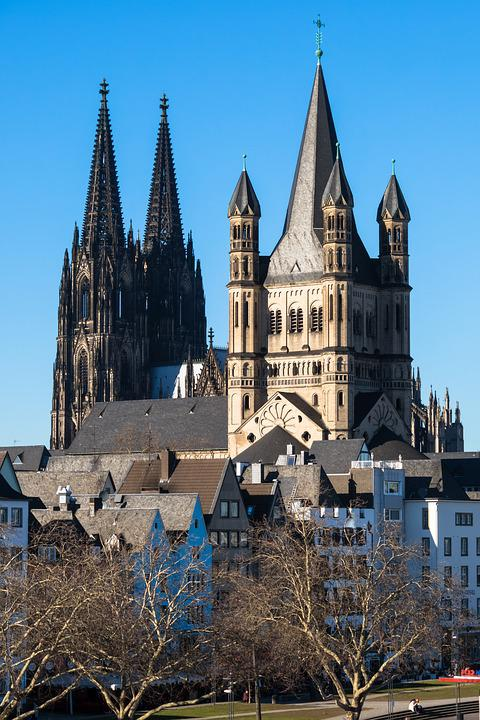 Cologne, Churches, Dom, Groß St Martin, Romanesque