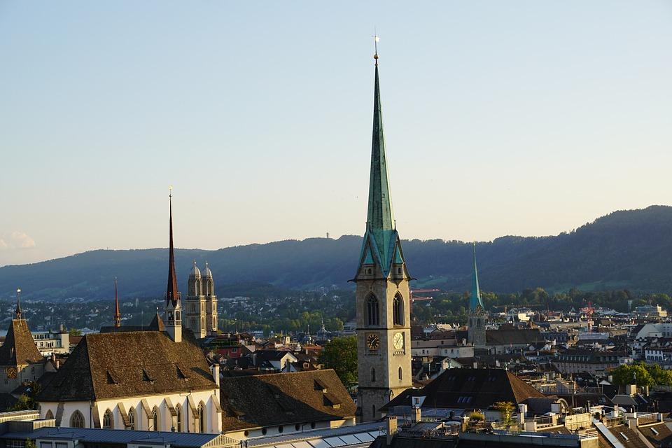 Zurich, Old Town, Churches, Switzerland, Roofs, City