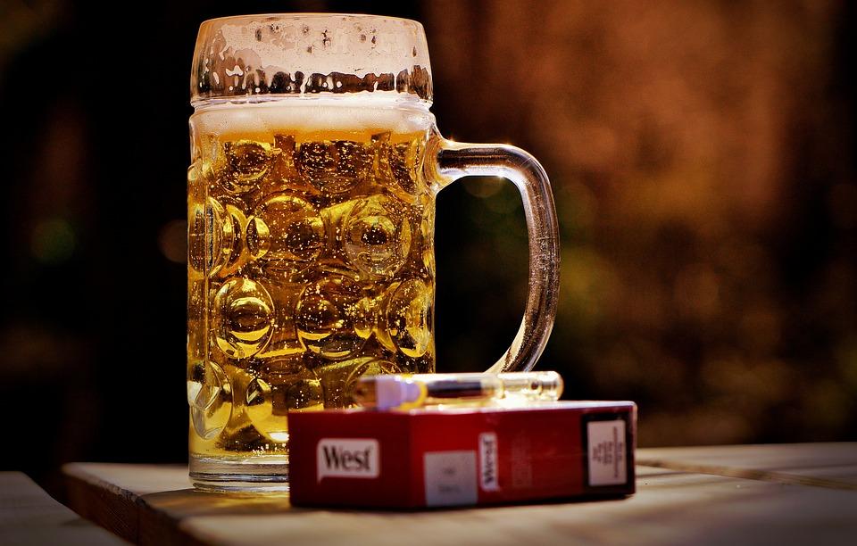 Beer, Beer Garden, Cigarettes, Lighter, Thirst