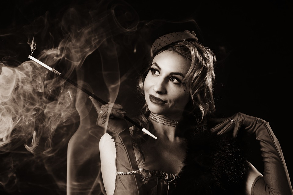 Smoke, Cigarettes, Smoking, Mouthpiece, Old Photo