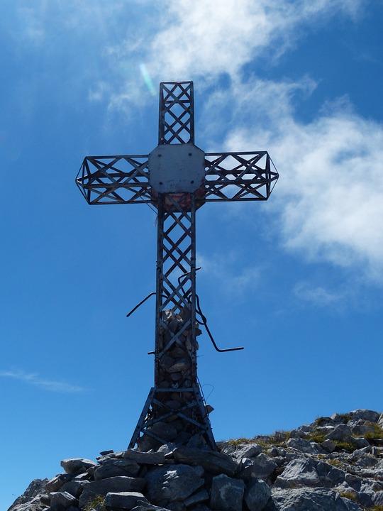 Summit Cross, Iron, Steel, Cima Della Saline, Mountain