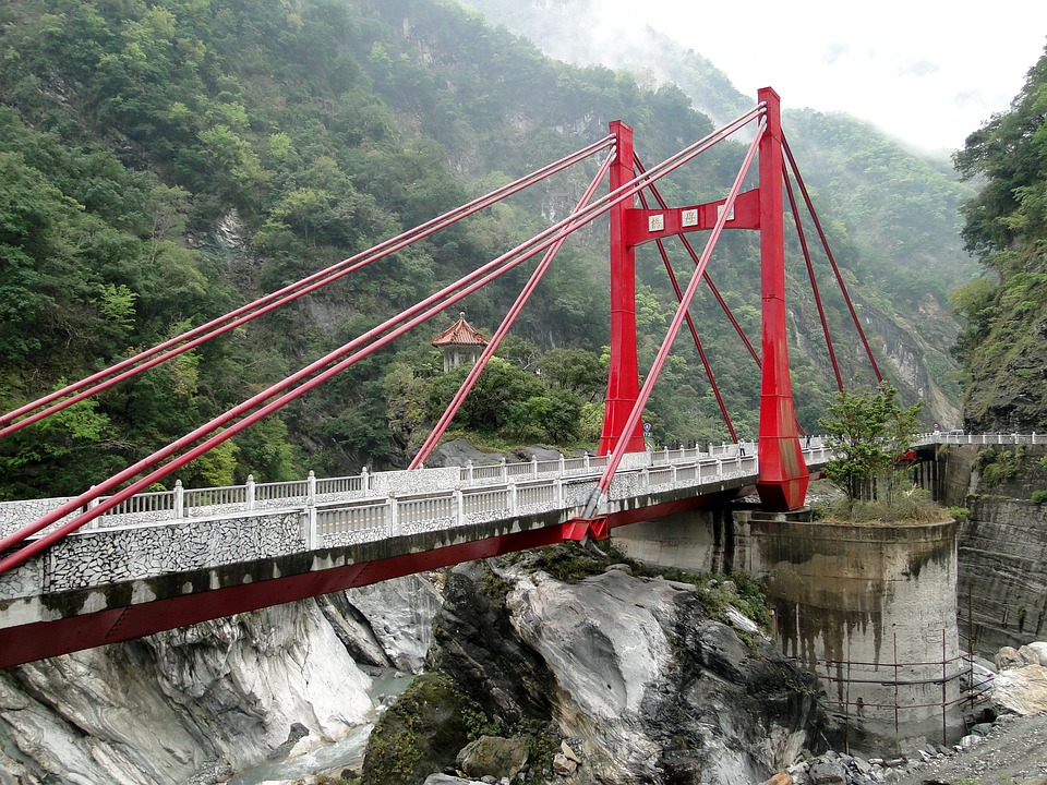 Suspension Bridge, Bridge, Cimu, Taroko, National Park