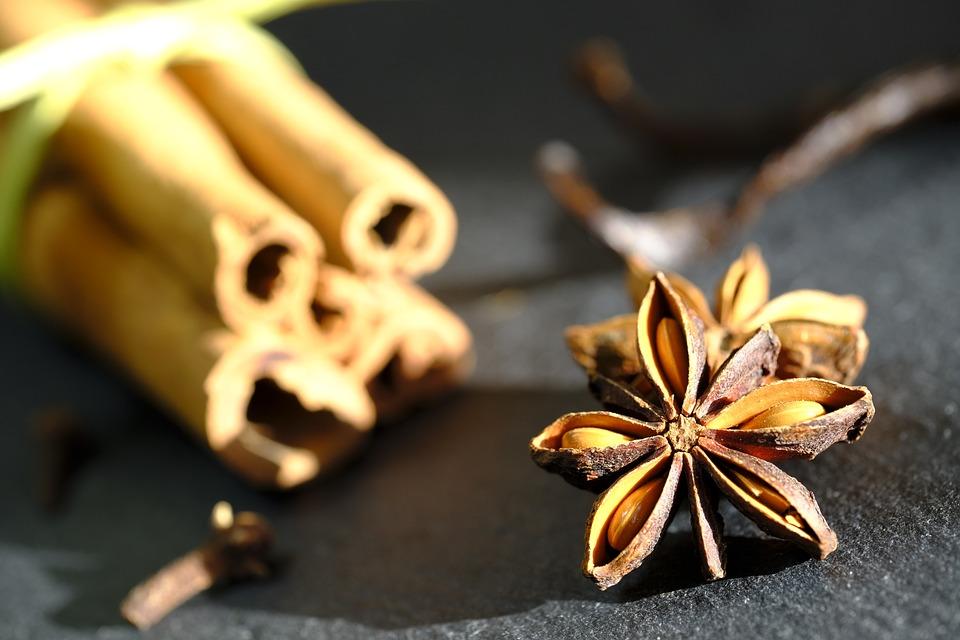 Anise, Star Anise, Cinnamon, Cinnamon Stick, Cloves
