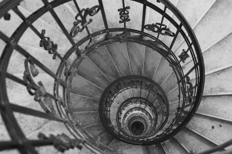 Stairs, Circle, Staircase, Spiral, Design, Stairway
