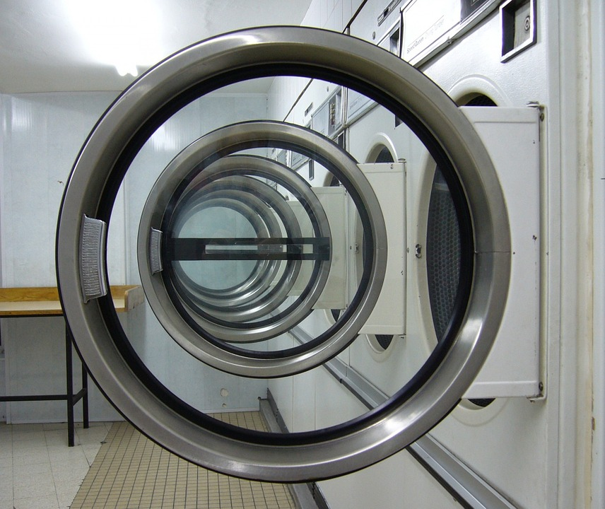 Laundromat, Circles, Laundry Machine, Laundry, Clean