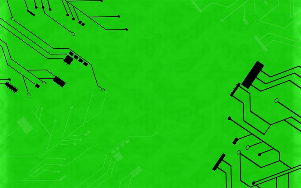 Green Background, Circuit, Computer, Internet