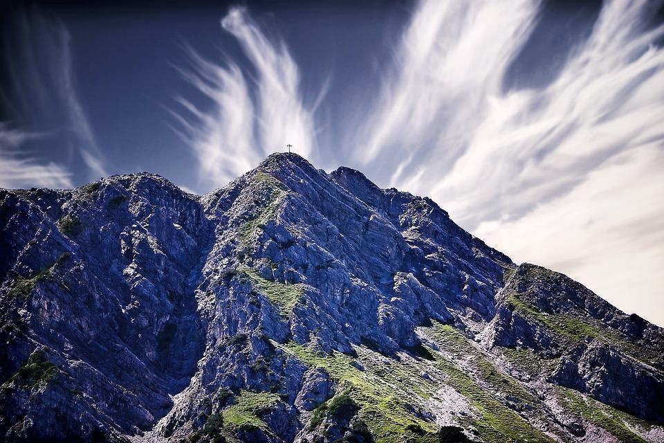 Mountains, Sky, Peaks, Clouds, Cirrus, Cirrus Clouds