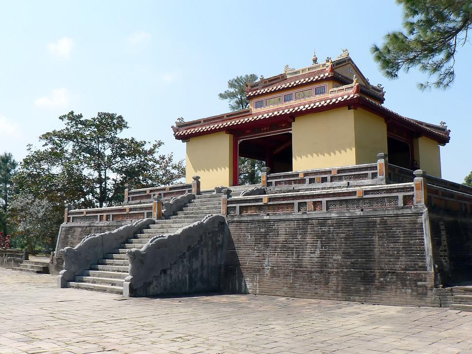Viet Nam, Booed, Citadel, Imperial Palace, Pavilion