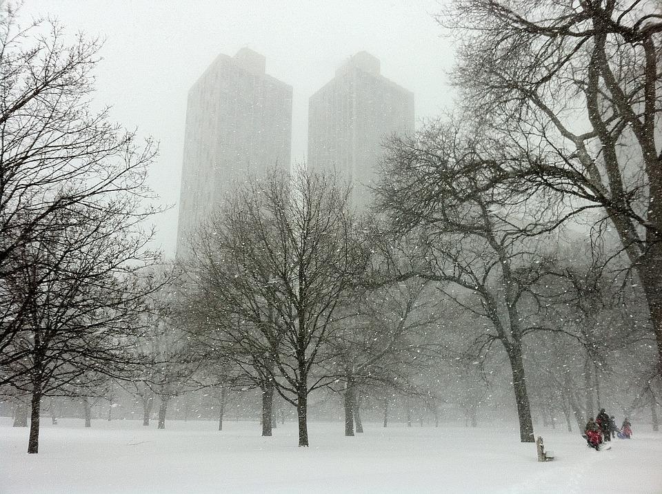Chicago, Illinois, City, Cities, Winter, Snow, Snowing