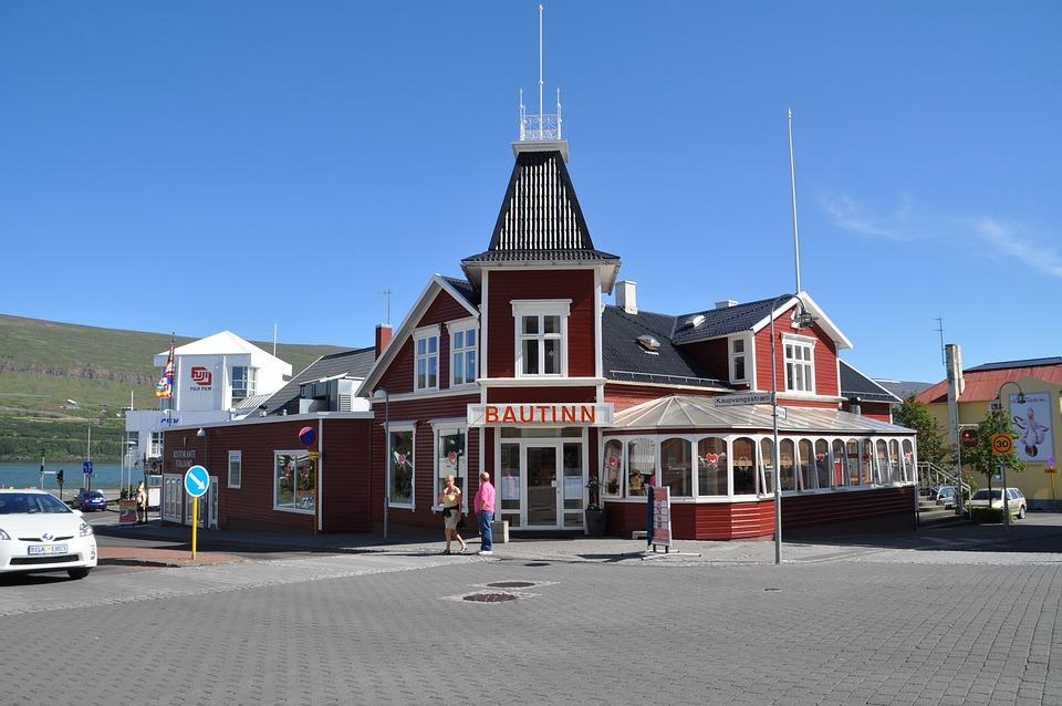 Iceland, Akureyri, Homes, City, Building