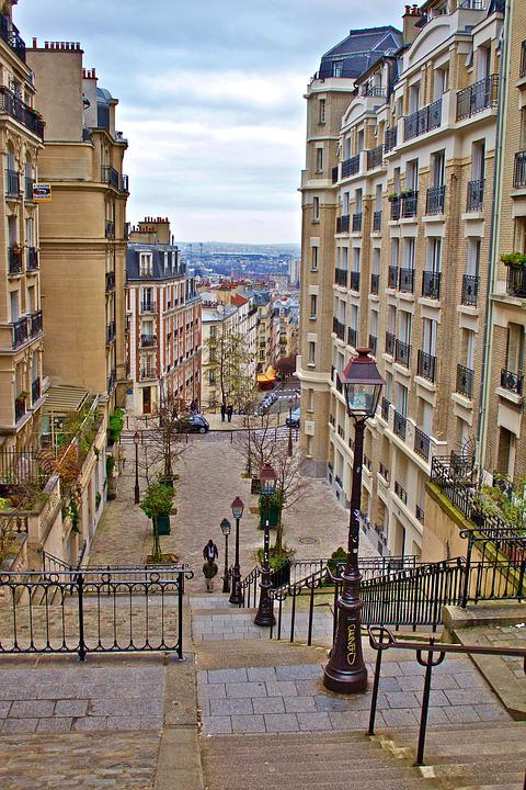 Paris, France, Monmatre, Architecture, City, Building
