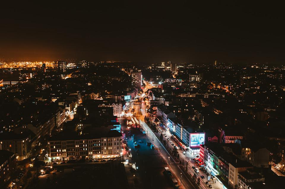 Night, City, Cityscape, Urban, Lights, Architecture
