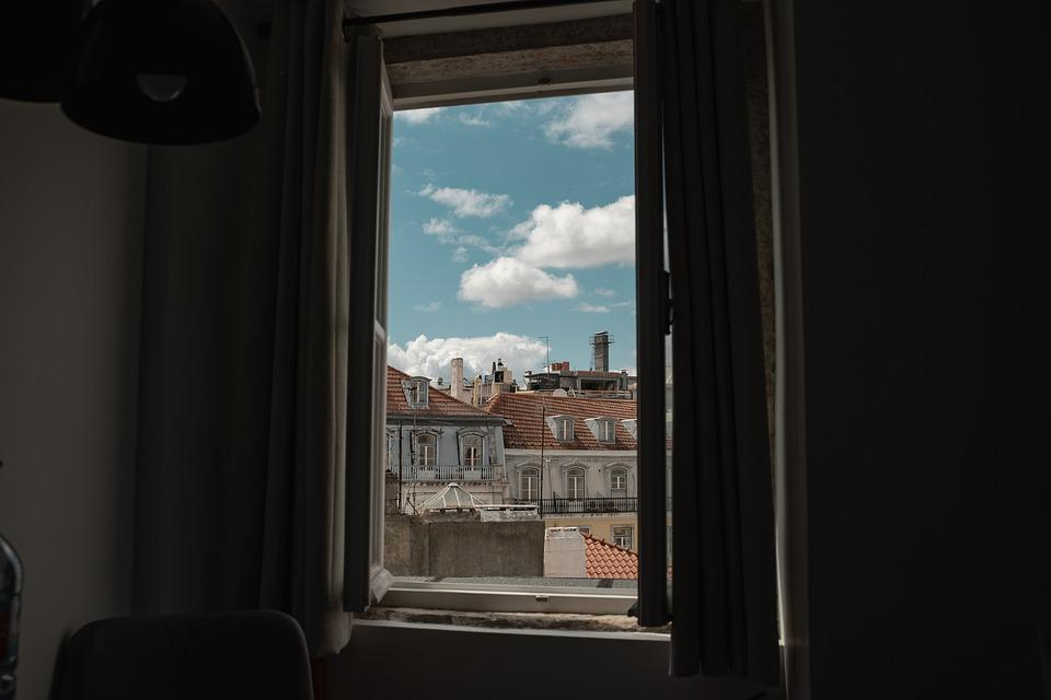 Window, Lisbon, Portugal, Architecture, Sky, City, Old