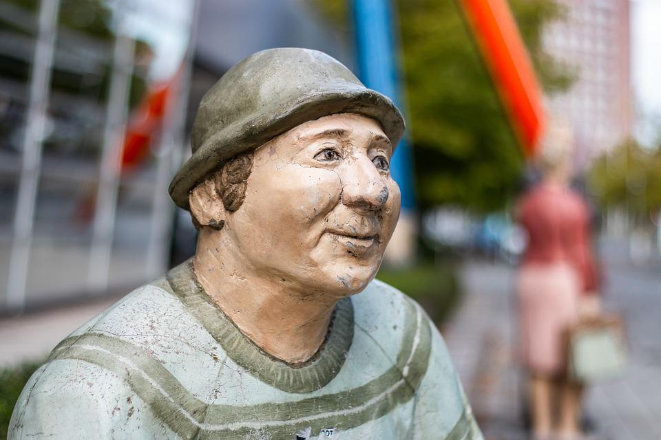 Sculpture, Man, Park, Statue, Art, City, Braunschweig