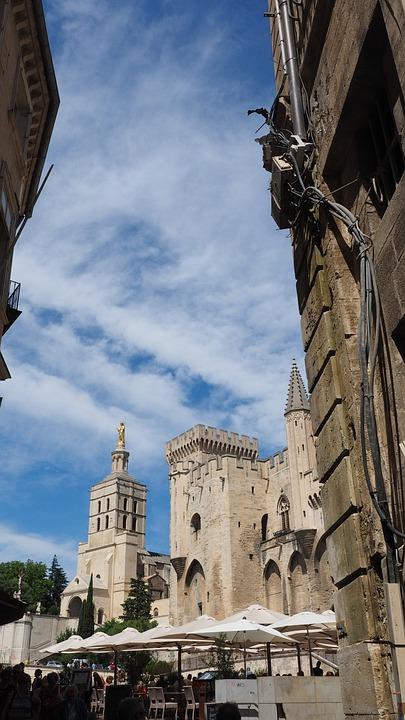 Avignon, Palais Des Papes, City, Downtown, City Life