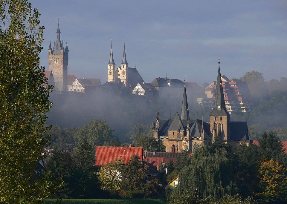 Baden-württemberg, Germany, City, Skyline, Buildings