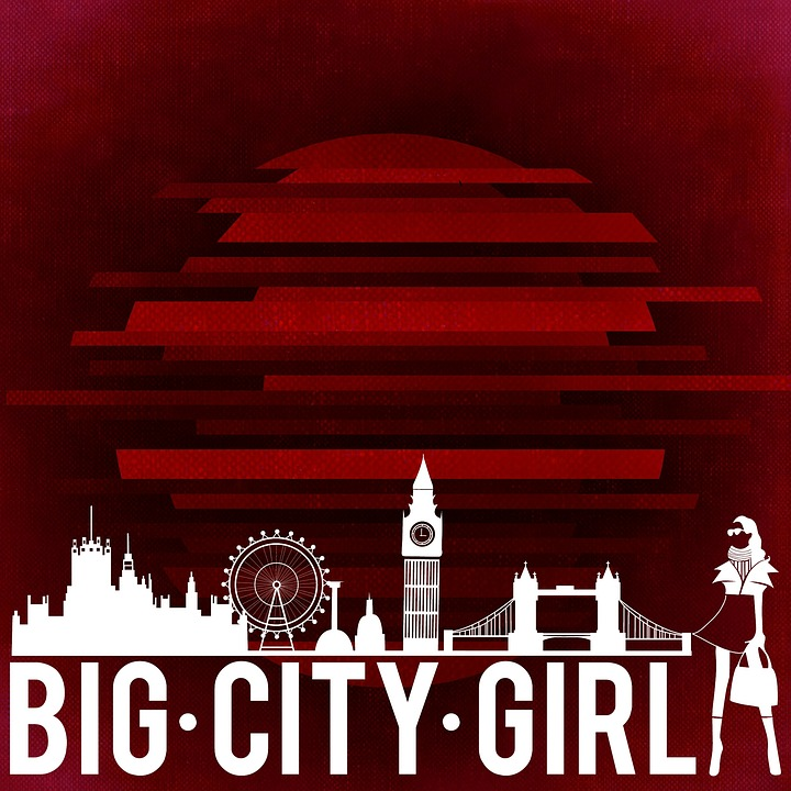 Big City, Silhouette, City, Girl