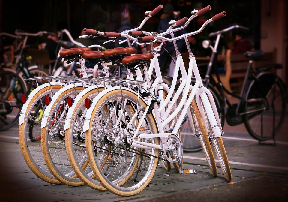 Bicycles, Bikes, Sports, City Bikes, White, Stacked