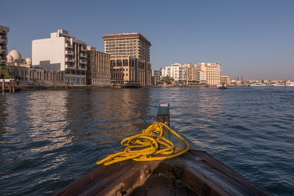 Dubai, Creek, Boat, Arab, City, Emirates, Travel