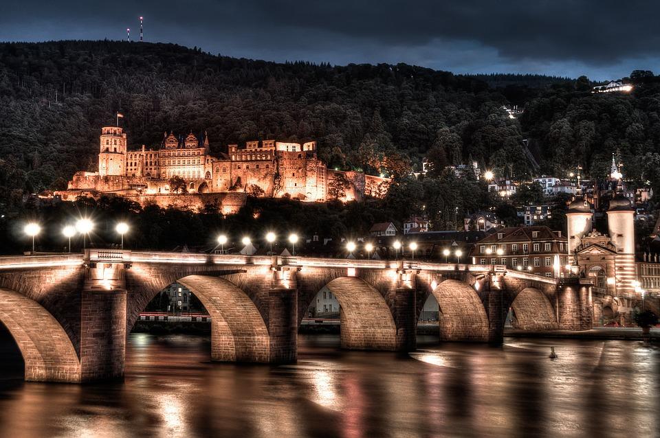 City, Architecture, Travel, Dusk, Waters, Bridge
