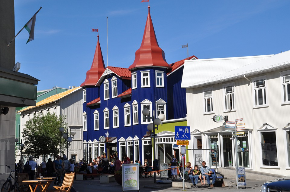 Iceland, Akureyri, Homes, City, Building