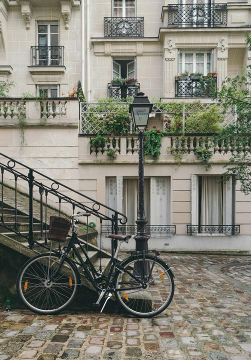 Bicycle, Building, City, Cobblestone Street, Exterior