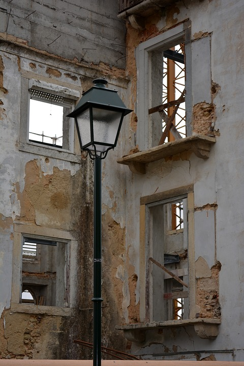 Old Town, Lamp, Light, Old, City, Wall, Building