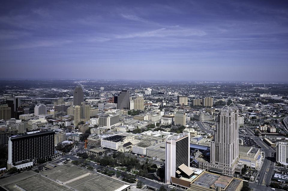 San Antonio, Texas, Skyline, Downtown, City, Building